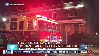Woman dead after a house fire in Southwest Baltimore