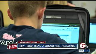 New Trend: Teens cyber-bullying themselves - Video