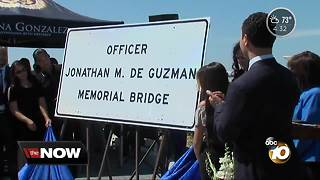 Bridge renamed for fallen officer - Video