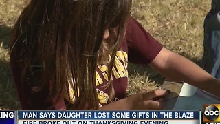First responders give Gilbert girl gifts after Thanksgiving house fire - Video