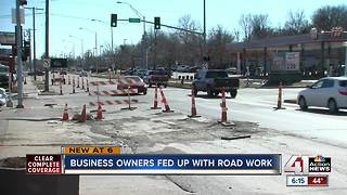 Construction impacting Wornall businesses - Video
