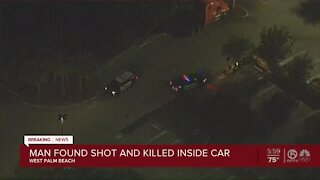 Man found shot and killed inside car in West Palm Beach
