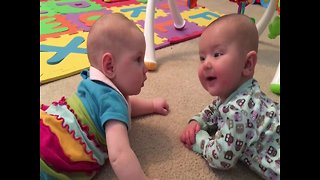 Babies Engage In A Hilarious Talk Which Turns Into A Loud Cry