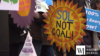 Climate activists rally in Maryland capital, supporting 100% green energy legislation - Video