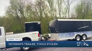 Veteran's work trailer stolen days after he moves to Tulsa