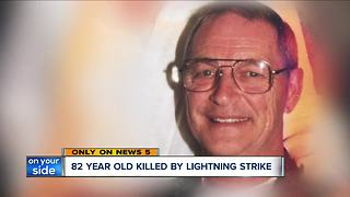82-year-old Ohio man found dead in field may have been struck by lightning - Video