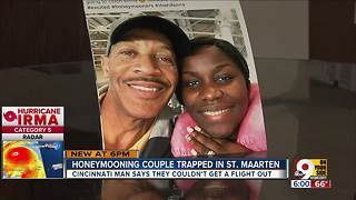 Honeymooning couple trapped by Irma