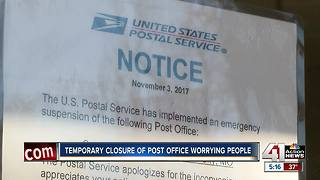 Temporary closure of post office worries people - Video