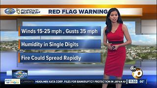10News Pinpoint Weather Forecast Midday with Melissa Mecija - Video