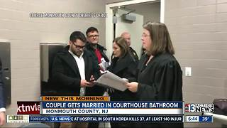 Couple gets married in bathroom