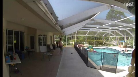 'Superman strength' dad makes diving save of young son
