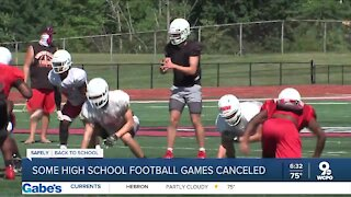 Some high school football games canceled