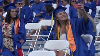 Boise State University holds commencement for a record number of graduates