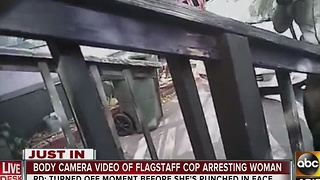 Body camera video of Flagstaff officer arresting woman released - Video