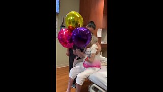 Moffitt Cancer Center staff surprise 86-year-old patient with balloons for birthday