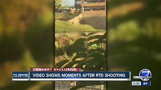 Exclusive video shows moments after RTD shooting in Denver - Video