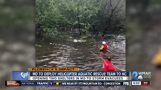 Maryland Helicopter Aquatic Rescue Team heading to North Carolina