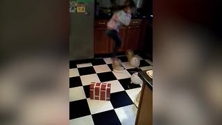 Girl Fails At Balloon Popping