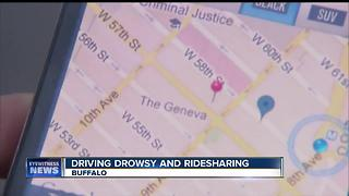 Drowsy driving while behind the wheel for a ride-sharing company