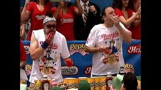 World Hot Dog Eating Championships - Video