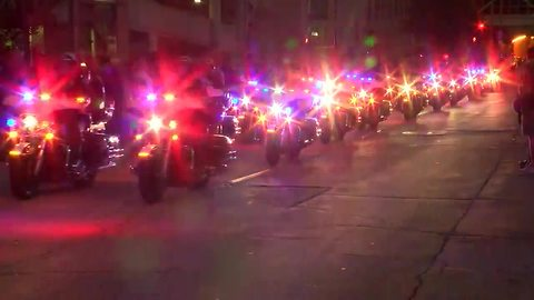 Procession carries body of fallen MPD officer