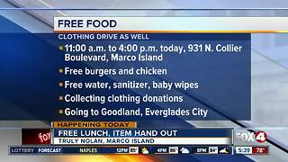 Marco Island company offering free foor for Irma relief - Video