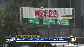 Proposed tariffs on Mexico could have outsized local impact