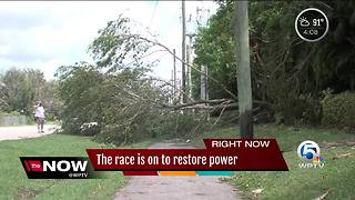 The race to restore power is on in South Florida - Video