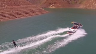 Wakeboarder Indulges in California's Shasta Lake - Video