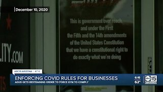 Enforcing COVID rules for Arizona businesses