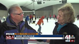 Crown Center ice skating rink opens for the holiday season - Video