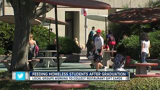 Local groups working to feed homeless students after graduation - Video