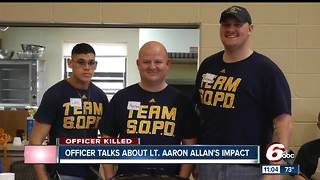 Southport Officer speaks on Lt. Aaron Allan's impact - Video