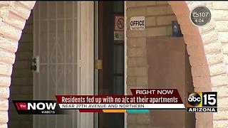 Apartment complex has A/C problems for weeks during intense Phoenix heat - Video