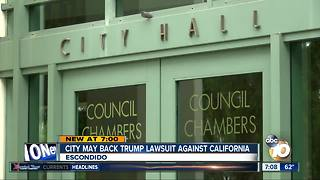 City may back Trump lawsuit against California - Video