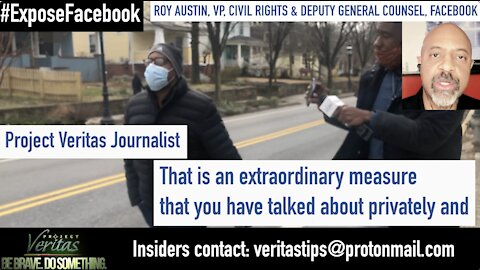 Facebook VP of Civil Rights Roy Austin EVADES Questions From Veritas Journalist on Civil Rights