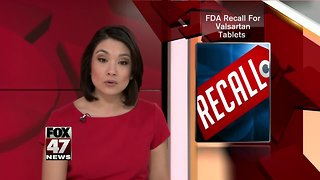 Pharmaceutical company is recalling blood pressure medication