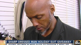 Sharp Dressed Man holds 2nd annual holiday suit giveaway - Video