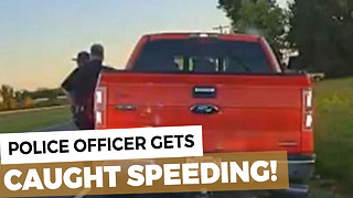 Police Officer Pulls Over Another Cop For Speeding - Video