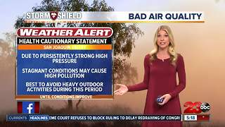 Temperatures are more than 10° above average this week with worsening air quality - Video
