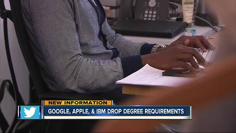 Notable companies drop degree requirements