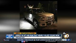 Arrest in hit and run that nearly killed young mom - Video