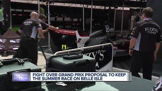 Fight over Grand Prix proposal to keep the summer race on Belle Isle - Video