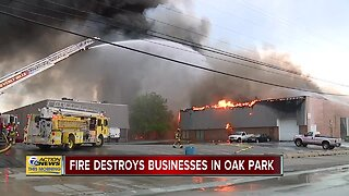 Fire destroys businesses in Oak Park