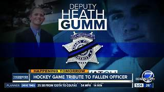 Hockey game honors fallen deputy Heath Gumm - Video