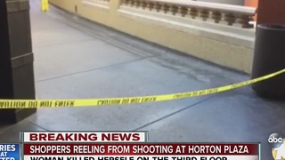 Shoppers react to shooting at Horton Plaza - Video