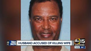 Police searching for husband accused of killing wife