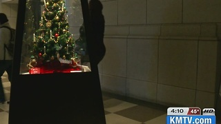 Ethnic Christmas trees on display - Video