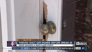 Thieves shut off power before breaking in - Video