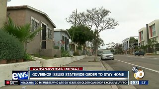 San Diego mayor reacts to state stay-at-home order